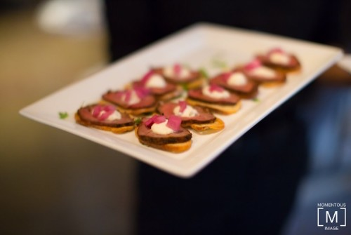 Beef and Ricotta Canapé