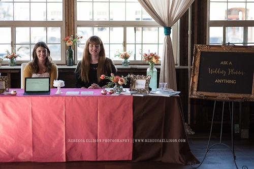 "Jen Leslie Events & Wonderstruck Event Design at our ""Ask-A-Planner"" booth"